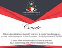 Convite Sessão Solene de Posse da Mesa Diretora 2019 a 2020