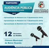Secretaria Municipal de Saúde realizará Audiência Pública
